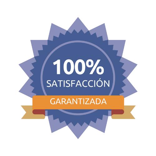 100% garantía de satisfacción